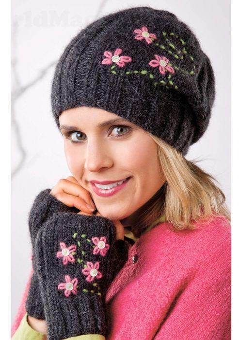 Фото шапки с вышивкой